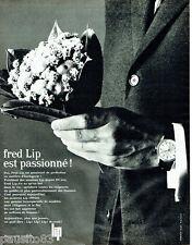 PUBLICITE ADVERTISING 026  1962  Fred Lip  montre homme