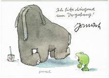 Janosch signierte Kunstpostkarte Ich bitte dringend um Vergebung! COA Zertifikat