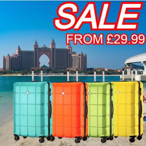 "28"" 4 Wheel Lightweight Suitcase Medium/Large ABS Hard Shell Luggage Travel Case"