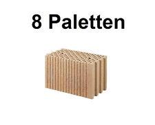 8 Pal. Planziegel POROTON-T (24 cm) 12/0,9 Ziegelstein Planstein Mauerwerk