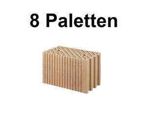 8 Pal. Planziegel POROTON-T18 (24 cm) 8/0,8 Ziegelstein Planstein Mauerwerk