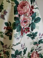 Vintage Home Decor Fabric Waverly Pleasant Valley Rose Floral 4.33 yds Remnant