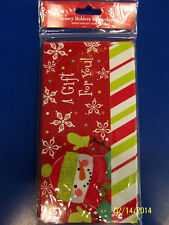 Snowman Christmas Holiday Party Giftwrap Gift Wrap Box Money Holders w/Envelopes