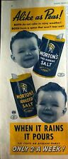 1941 MORTON'S SALT Alike as Peas Baby Face Ad