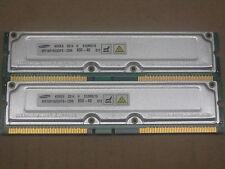 1GB 2 x 512MB RDRAM Rambus Rimm 800-40 Samsung non ecc