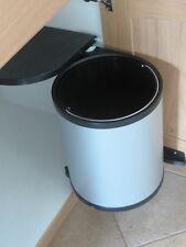 Wesco Abfallsammler rund 13 Liter silber / schwarz Türmitnehmer Rondo Mülleimer