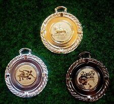 100 Medaillen mit Emblem + Band #630 (Pokale Rally Wettkampf Turnier Ball Sport)
