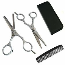 "6"" Hair Cutting Scissors Shears Kit With Comb Barber Salon Hairdressing Thinning"