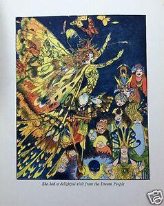 Penny Ross Print Nursery Decor Fairy Tale Folk Art Child Butterfly