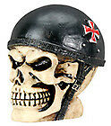 New German helmet small Biker punk gear shift shifter Knob lever skull  handle