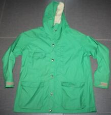 Vintage 80's WOOLRICH WOMAN Green 60/40 Parka Hooded OLD MINT USA Jacket Coat L