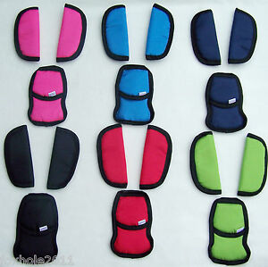 Baby Car Seat and Pushchair Belts Crotch Cover Harness Shoulder Straps Pads Big