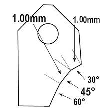 45 ° - 1.0mm. Sede della valvola inserto in carburo punta di bit, Newen serdi rottler SUNNEN GOODSON