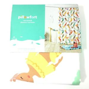 Pillowfort Mermaid Shower Curtain 72 in x 72 in