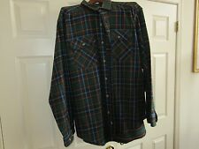 Woolrich , Shirt/Jacket , Vintage  , Green/Brown  Plaid , Size XL