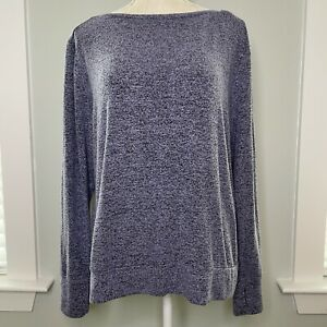 C9 By Champion Heathered Purple Long Sleeve Open Back Activewear Top Large