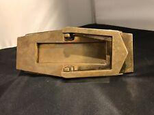 Art Deco Brass Door Knocker & Letterbox