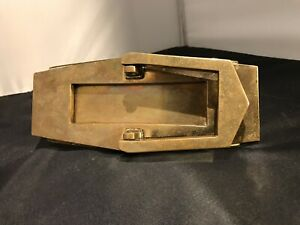 Art Deco Brass Door Knocker & Letterbox