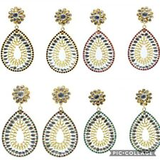 Latest Handmade Pachi With Glass & Stone Work Earrings Indian Fashion Jewelry