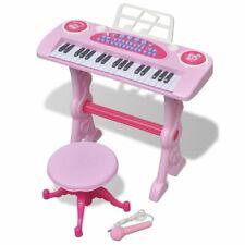 vidaXL Speelgoedkeyboard met Krukje/Microfoon Roze Kinderkeyboard Keyboard