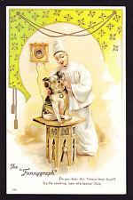 Artist Design Dog Dogs Jester Clown Funnygraph headphones Misch & Stock postcard