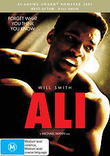 ALI (2001) - BRAND NEW & SEALED R4 DVD (WILL SMITH, JAMIE FOXX)