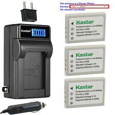 Kastar Battery LCD AC Charger for Olympus Li-80B OLYMPUS T-100 T-110 X-36 X-960