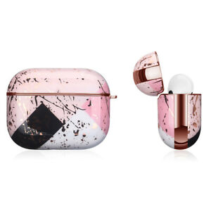 Apple AirPods Pro Marble Gold Case Shockproof Cover Luxury w/ Holder (Asaria)