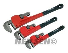 "Neilsen Pipe Wrench Set Stilson 10"" 15"" & 18"" Heavy Duty Plumbing 2106"