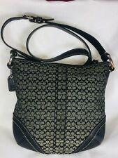 Coach Authentic Cross-body bag Purse Handbag Tote bag Black Canvas & Leather