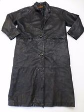 Cayenne Leather Womens Size Medium Black Leather Trench Coat Good Condition