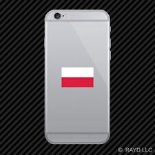 Polish Flag Cell Phone Sticker Mobile Die Cut Poland