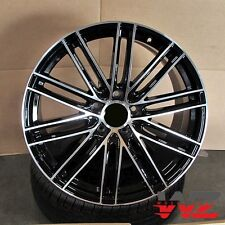 21 Mesh Style Black Machined Staggered Wheels Fits Porsche Cayenne Q7 Touareg