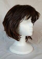 Wig, short, dark brown