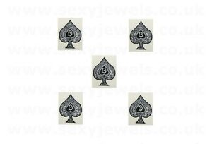 Mini Queen Of Spades Style 4 QOS Temporary Tattoo BBC Hotwife FREE P&P- Pack 5