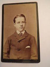 Jena - Max Paasche als Junge im Anzug - Portrait / CDV
