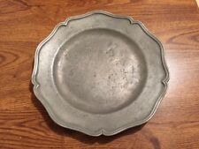 Antique John Townsend 1748 Pewter Plate With Scalloped Rim
