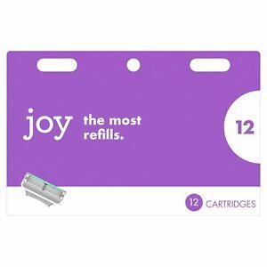 Joy Razor Blades Refill Cartridges for Women, Five Bladed, 12 CT