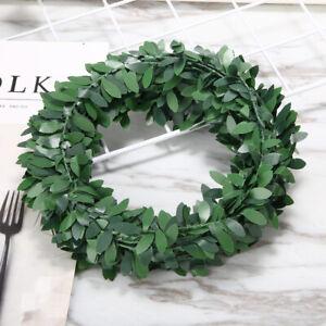 7.5M Garland Green Leaf Wire Vine Rattan Artifical Flower Wreath Foliage Plastic