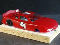 Plafit Cheetah II Motor Slot Car Lexan Body 1:24 Scale Racing #4 Custom Red