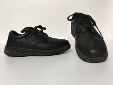 Orthofeet 410 Mens Comfort Diabetic Therapeutic Black Pebbled Leather Size 9.5 D