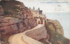 LLANDUDNO WALES UK TELEGRAPH STATION PHOTOCHROM CELESQUE POSTCARD POSTMARK 1924