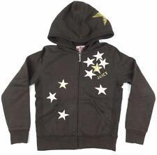 JUICY COUTURE Brown w/Stars Girls Long Sleeve Hoodie Sweatshirt Sweater Size 8