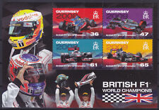 Guernsey 2011 British F1 World Champions (2nd) MS UM SGMS1405 Cat £4.75