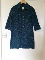 Mantaray Corduroy Seed Duck Print Green Shirt Dress Size 10