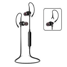Wireless Bluetooth 4.0 Black/Black Headphones Headset Mic iPhone Samsung Android
