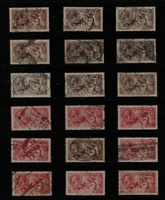 GB 1913-36 Geo V SEAHORSES HV STAMP Collection 2s6d x10 5s x8 Ref:QK582