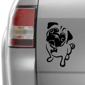 Pug Car Decal Dog Vinyl Sticker 200mm x 130mm #1