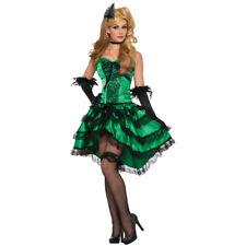 Womens Sexy Emerald Saloon Girl Costume size Standard 6-14