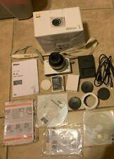Nikon 1 J1 Digital Camera White w/ 30-110 Zoom Lens, charger, disc, book in Box